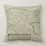 Antique Map of the Holy Land Throw Pillows