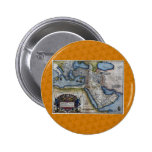Antique Map of The Middle East Pinback Buttons