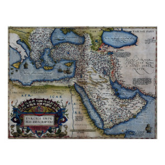 Antique Map of The Middle East Posters