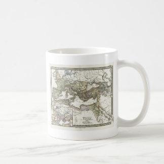 Antique Map of the Roman Empire Basic White Mug