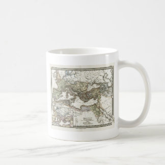Antique Map of the Roman Empire Classic White Coffee Mug