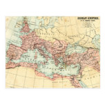 Antique map of the Roman Empire Post Cards