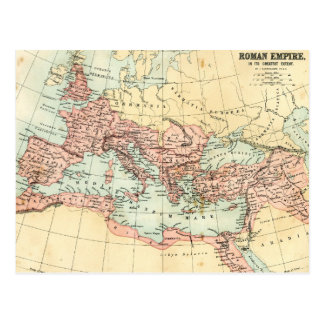 Antique map of the Roman Empire Postcard