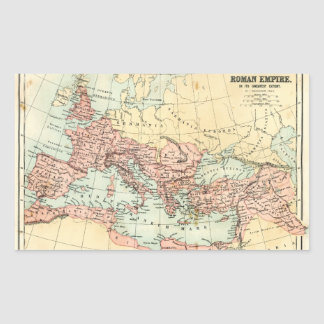 Antique map of the Roman Empire Rectangular Sticker