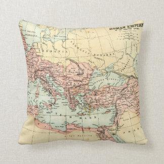 Antique map of the Roman Empire Throw Pillow