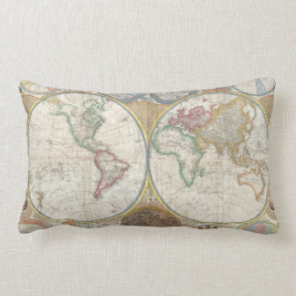 Antique map of the world 1794 beautiful pillow