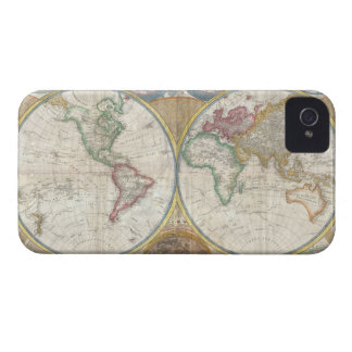 Antique map of the world beautiful detailed, gift iPhone 4 Case-Mate cases