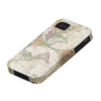 Antique map of the world beautiful detailed, gift iPhone 4 cases