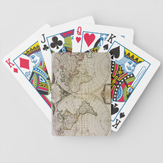 Antique Map of the World Bicycle Playing Cards