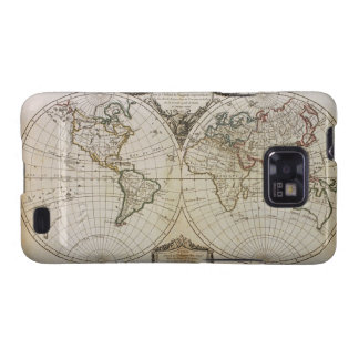 Antique Map of the World Galaxy SII Case