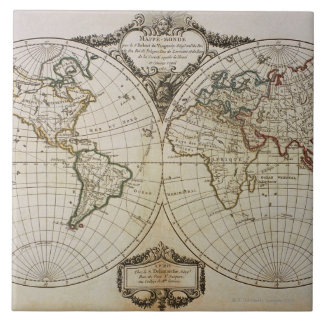 Antique Map of the World Ceramic Tile