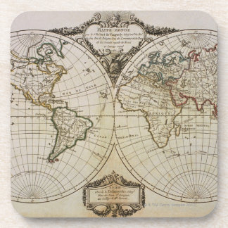 Antique Map of the World Coaster