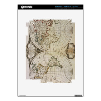 Antique Map of the World Decal For iPad 3