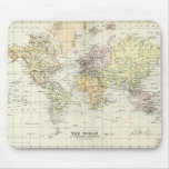 Antique Map of the World Mousemat