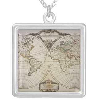Antique Map of the World Necklace