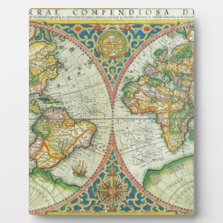 Antique Map of The World Plaques