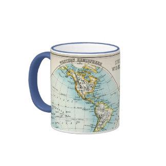 Antique map of the World Ringer Mug