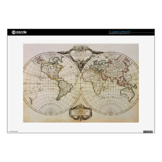 Antique Map of the World Skins For Laptops