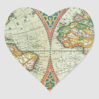 Antique Map of The World Sticker