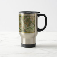 World map coffee travel mugs zazzle antique map of the world travel mugs gumiabroncs Choice Image