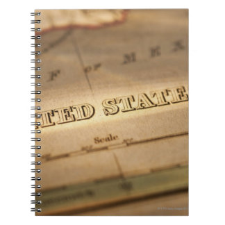 Antique map of United States Notebook