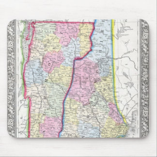 Antique Map of Vermont & New Hampshire c. 1862 Mouse Pad