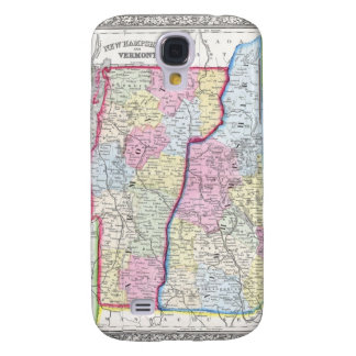 Antique Map of Vermont & New Hampshire c. 1862 Samsung Galaxy S4 Case