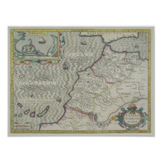 Antique Map of West Africa Print