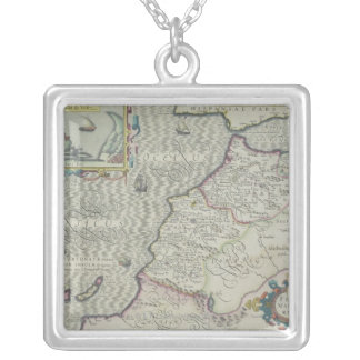 Antique Map of West Africa Silver Plated Necklace