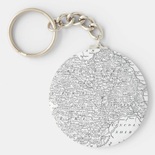 Antique Map of Yorkshire 1786 Basic Round Button Keychain