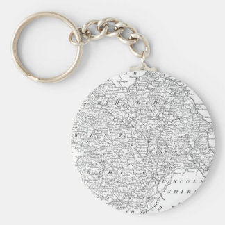 Antique Map of Yorkshire 1786 Keychain