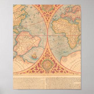 Antique Map - Orbis Terrae Compendiosa Descritio Poster
