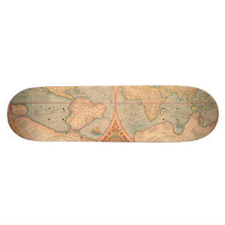 Antique Map - Orbis Terrae Compendiosa Descritio Skateboard Deck