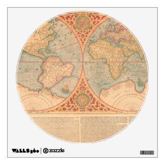 Antique Map - Orbis Terrae Compendiosa Descritio Wall Sticker