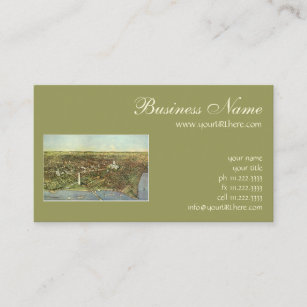 Panoramic business cards zazzle antique map panoramic view of washington dc business card reheart Gallery