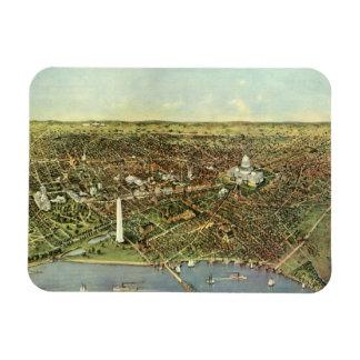 Antique Map, Panoramic View of Washington DC Magnet