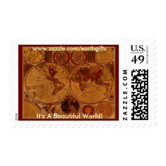 ANTIQUE MAP Postage Stamps