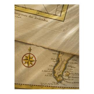 Antique map postcard