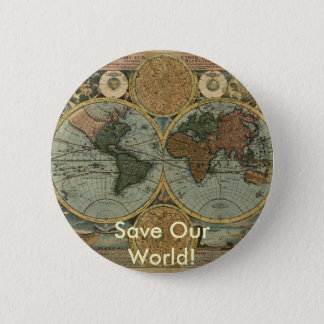Antique Map Series Button
