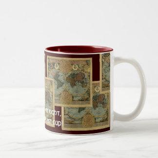 Antique Map Series Two-Tone Coffee Mug