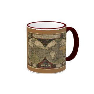 Antique Map Series Ringer Coffee Mug