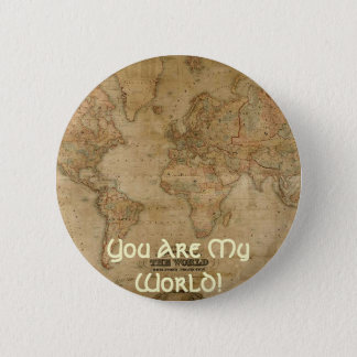 Antique Map Series Pinback Button