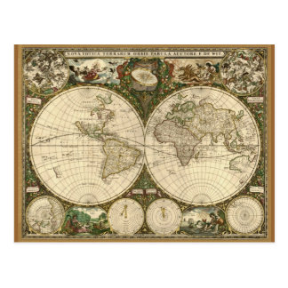 Antique Map Series Post Card