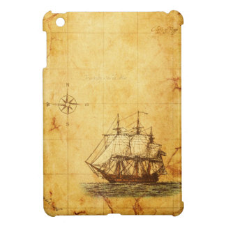Antique Map & Ship iPad Mini Cover