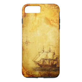 Antique Map & Ship iPhone Line Cases