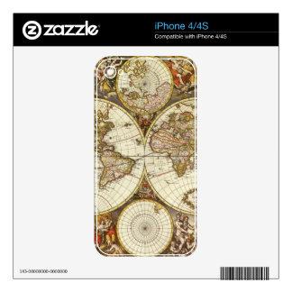 Antique Map iPhone 4 Skins