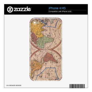 Antique Map Skin For The iPhone 4