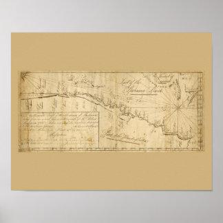 Antique Map Straits of Bahama Nautical Chart