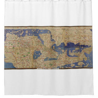 Antique Map Tabula Rogerian Shower Curtain