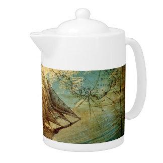 Antique Map - Teapot